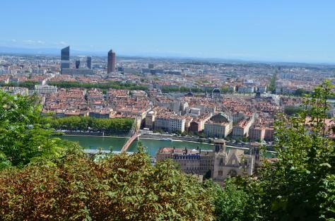 Vista dalle Basilica di Notre-Dame de Fourvière