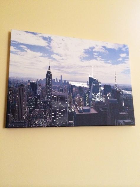 Foto scattata dal Top of the Rock a Manhattan e stampata su tela con la tecnica del retouchè
