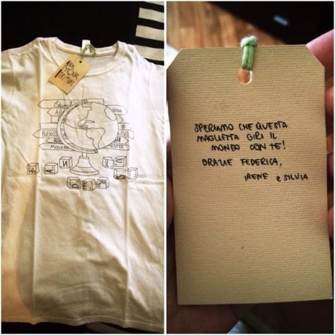 La mia T-shirt Inkyourtravel arrivata anche con una apprezzatissima dedica di Irene e Silvia! ;-)