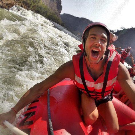 Rafting nel fiume Zambesi