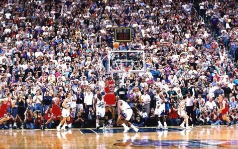 Canestro decisivo di MJ alla finale NBA contro gli Utah Jazz