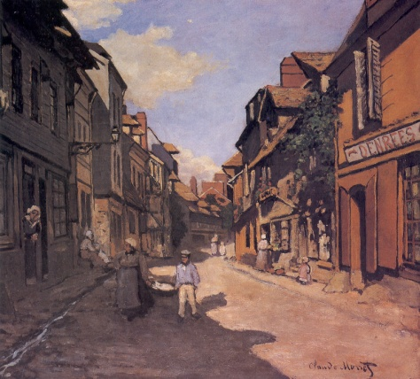 La Rue de La Bavolle at Honfleur _ Monet