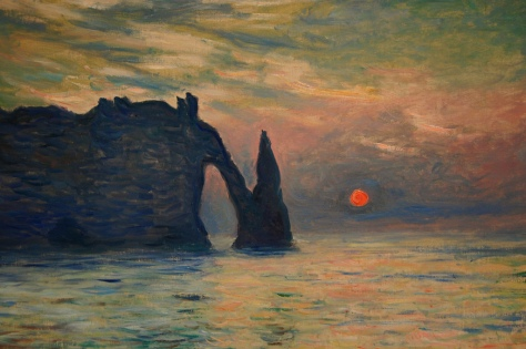 Tramonto ad Etretat - Monet